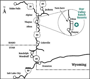 Maps Star Valley Ranch Resort
